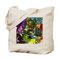 Colorful patchwork fabric Tote Bag