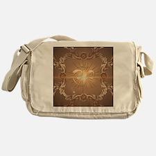 Om symbol made of rusty metal Messenger Bag