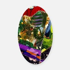 Bright colors fabric pattern Oval Car Magnet