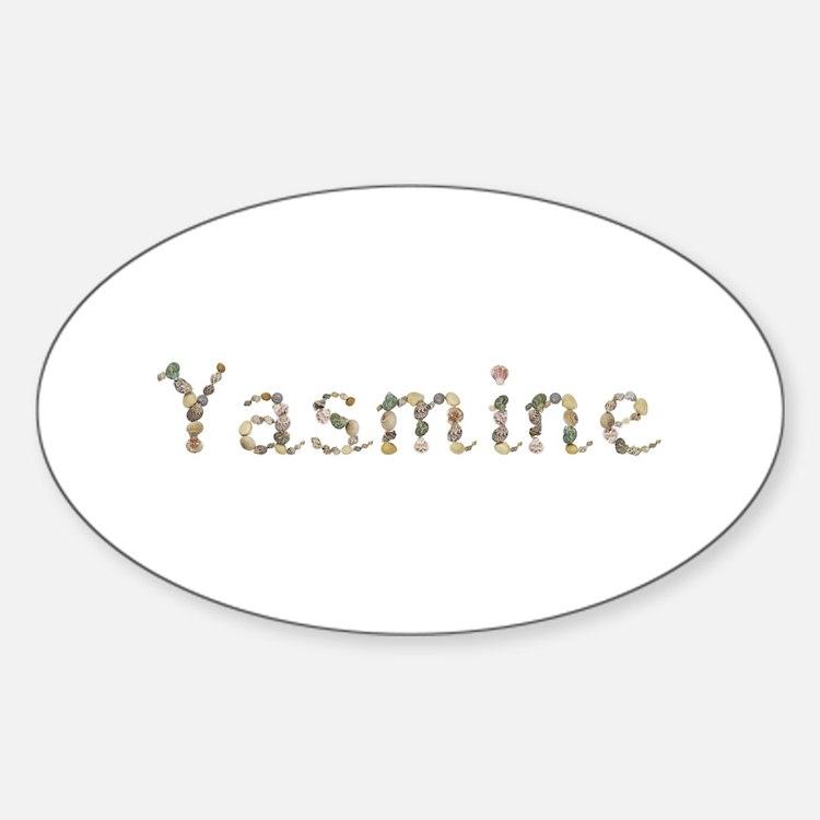 Yasmine Seashells Oval Decal