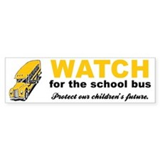 Watch for School Bus Vinyl Bumper Car Sticker