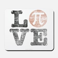 Love Pi Day Distressed Mousepad