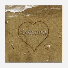 Ximena Beach Love Tile Coaster