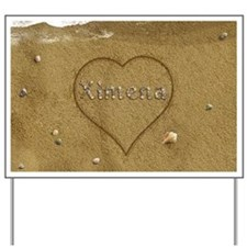 Ximena Beach Love Yard Sign