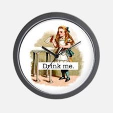 Drink Me Alice in Wonderland Wall Clock