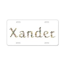 Xander Seashells Aluminum License Plate