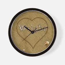 Wright Beach Love Wall Clock