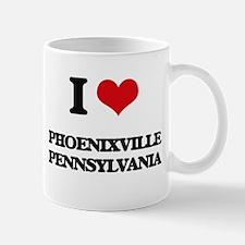 I love Phoenixville Pennsylvania Mugs