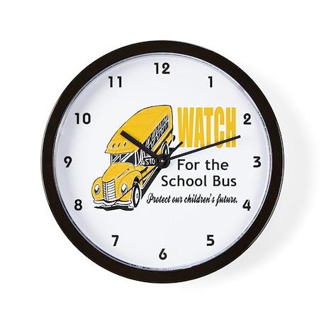 Watch for School Bus Wall Clock