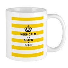 Keep Calm Its Black And Blue Mugs