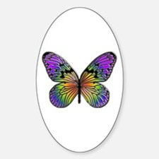 Butterfly Design Oval Decal