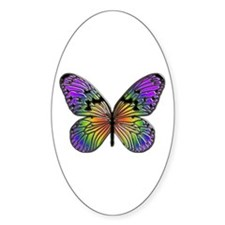 Butterfly Design Oval Stickers