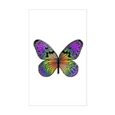 Butterfly Design Rectangle Stickers
