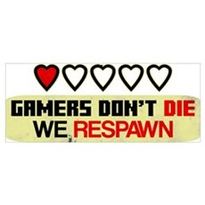 Gamers Don't Die Canvas Art