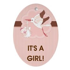 IT'S A GIRL! Ornament (Oval)
