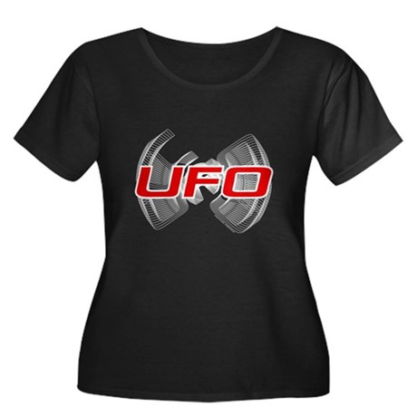 Flapping UFO Design Women's Plus Size Scoop Neck D