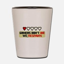 Gamers Don't Die Shot Glass