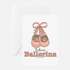 Future Ballerina Ballet Slippers Blank Cards 10 pk