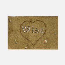 Wise Beach Love Rectangle Magnet