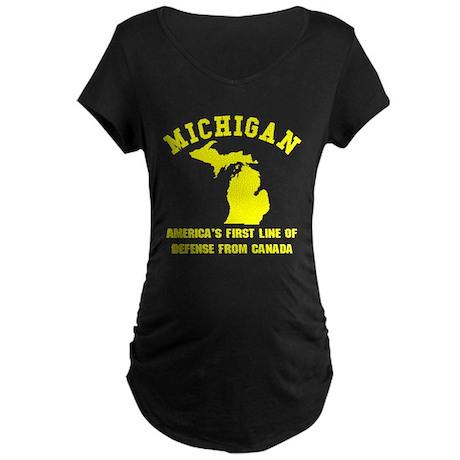 Michigan Maternity Dark T-Shirt