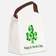 St. Patrick Shamrock Canvas Lunch Bag