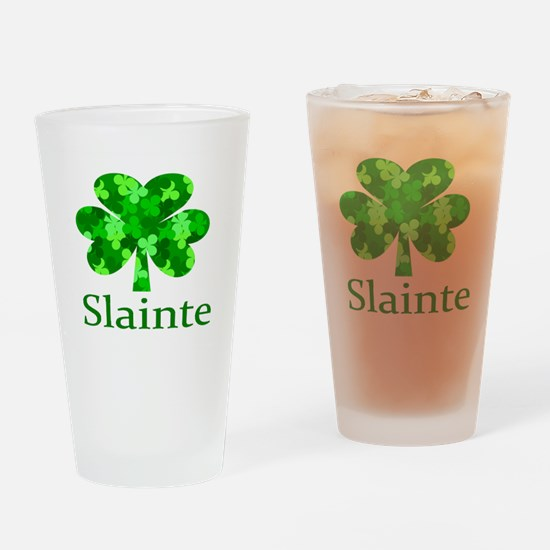 Slainte Shamrock Drinking Glass