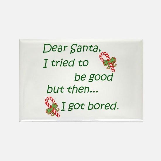 Dear Santa Rectangle Magnet