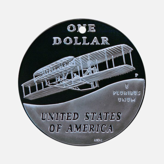 First Flight Commemorative Dollar Ornament (Round)