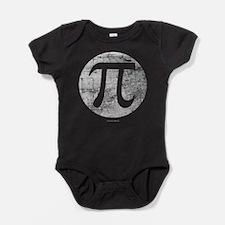 Distressed Vintage Pi Logo Baby Bodysuit