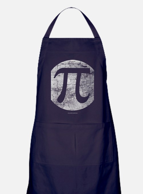 Distressed Vintage Pi Logo Apron (dark)