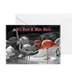 Flamingo 2c thank you notes Greeting Cards