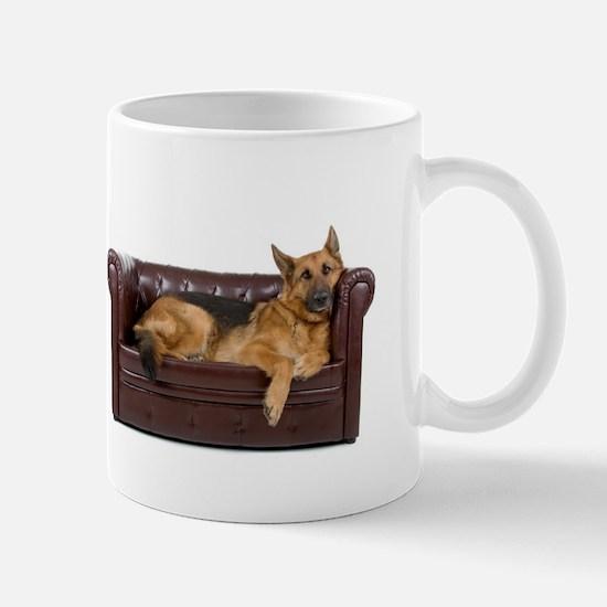 GERMAN SHEPHERD ON COUCH Mugs