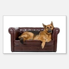 GERMAN SHEPHERD ON COUCH Decal