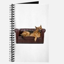 GERMAN SHEPHERD ON COUCH Journal