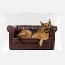 GERMAN SHEPHERD ON COUCH Pillow Case