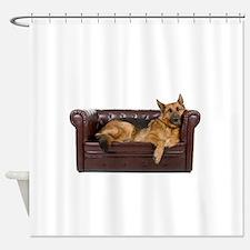 german shepherd dog shower curtains german shepherd dog fabric shower curtain liner. Black Bedroom Furniture Sets. Home Design Ideas