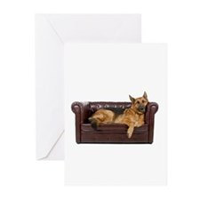 GERMAN SHEPHERD ON COUCH Greeting Cards