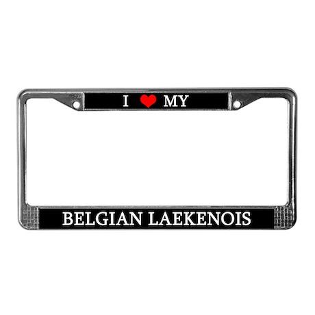 Love Belgian Laekenois License Plate Frame