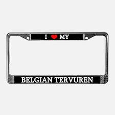 Love Belgian Tervuren License Plate Frame