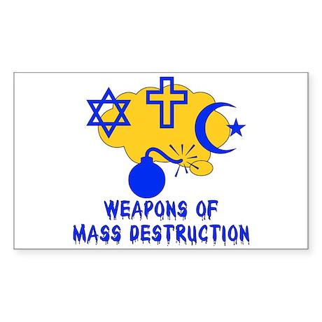 Religion Mass Destruction Rectangle Sticker