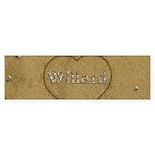 Willard Beach Love Bumper Sticker
