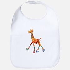 Roller Skating Giraffe Bib