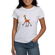 Roller Skating Giraffe T-Shirt
