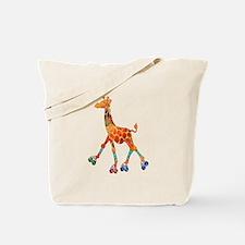Roller Skating Giraffe Tote Bag