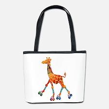Roller Skating Giraffe Bucket Bag