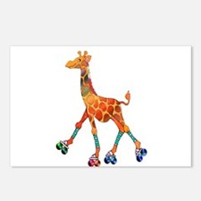 Roller Skating Giraffe Postcards (Package of 8)