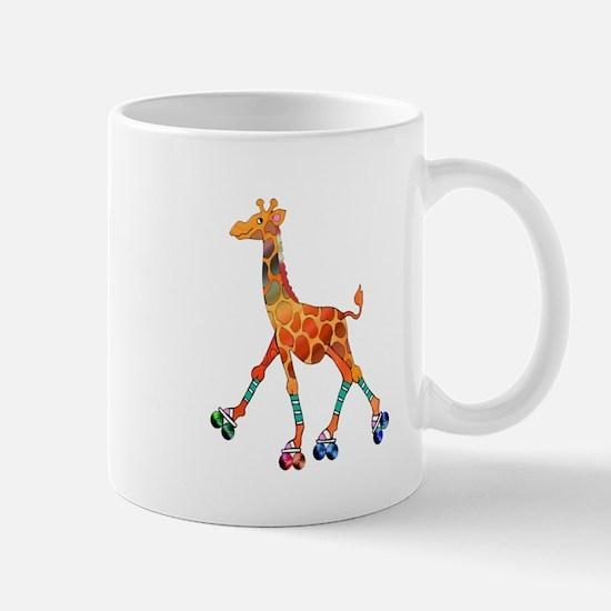 Roller Skating Giraffe Mugs