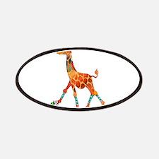 Roller Skating Giraffe Patch