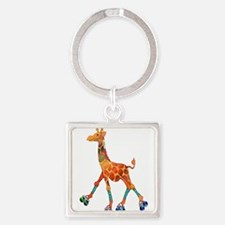 Roller Skating Giraffe Keychains