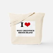 I love West Greenwich Rhode Island Tote Bag